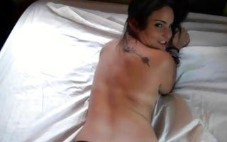 Slutty brunette girlfriend Cara Swank makes a dick wet and hard