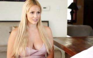 Young blonde nanny Kylie Page gets sun tan topless in amateur porn