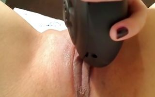 Raunchy brunette with perky tits fingers her cunt in amateur solo