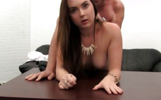Hot brunette girlfriend Brooklyn has insane sex with man