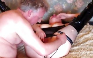 Kinky chubby babe gets missionary banged by an old man