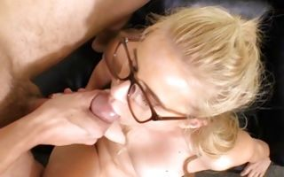 Hot blonde girlfriend Tiffany has painful sex with horny man