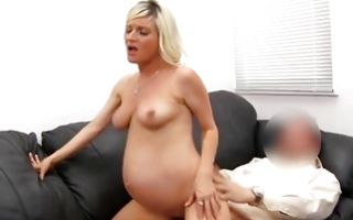 Naughty pregnant ex-girlfriend Cindy nicely riding on dick