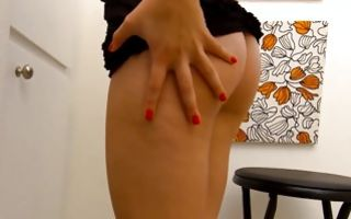 Marvelous brunette ex-girlfriend playing with wet tight muff