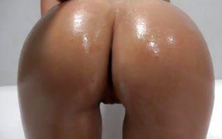 Fabulous brunette GF Klara licking balls of depraved man