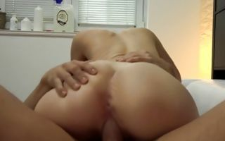 Sweet brunette GF Alisa roughly fucked in juicy pussy