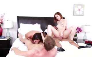 Watch my GF Arielle Faye with hot body has foursome sex