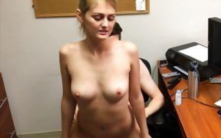 Sweet blonde ex-girlfriend deeply fucked in tight snatch