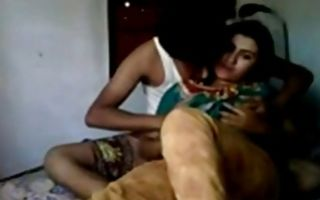 Passionate couple is on bed having rough sex fucking hard core