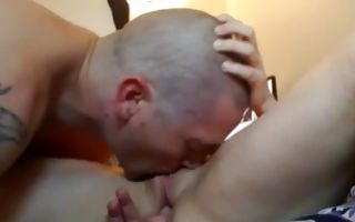 Depraved dude nicely licking and fingering juicy pussy