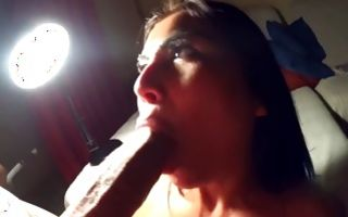 Fantastic horny ex-girlfriend insanely sucking huge dick