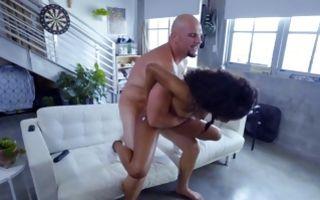 Fabulous Ebony GF Demi Sutra has rough interracial sex