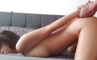 Hot beauty blowing a tasty dick and she gets pounded