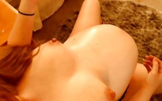 Naughty pregnant brunette with big boobs rubs clit in homemade xxx