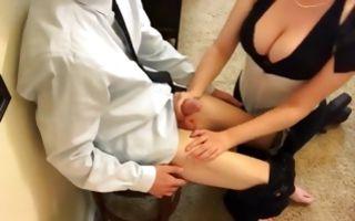 Pretty amateur blonde nun gives a deepthroat on her knees