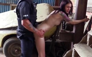 Naughty Anna Lee riding on big meaty cock of horny cop