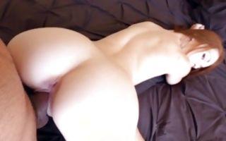 Hot redhead GF Kimberly Brix sucking cock before sex