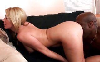 Impressive interracial sex with adorable blonde Ex-GF
