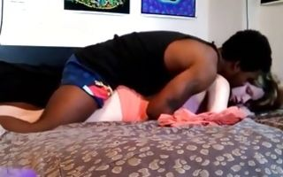 Interracial amateur brutal sex with white skinny teen