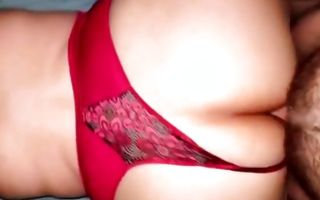 My GF with huge booty deeply fucked in wet snatch